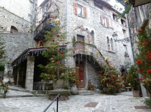 One of the best places to enjoy Xmas on the Riviera - the medieval village of Lucéram