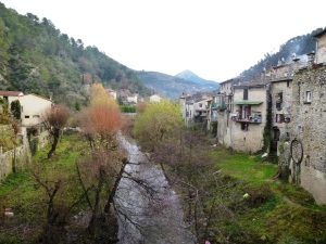 The view from the Old Bridge of l'Escarène south down the Paillon valley
