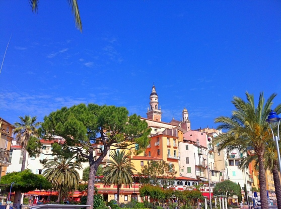 The Old Town of Menton viewed from the Bastion