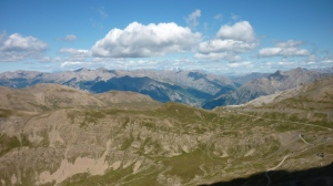 The view from the Col de la Bonette, at 2800m the highest road in Europe