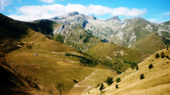Vioew from the Col de Tende on the French-Italian border