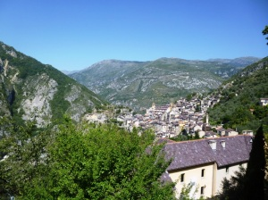 The Roya valley and the perched village of Saorge