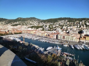View from the Castle Hill east over Port Lympia