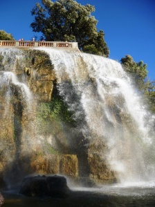 The lovely waterfall on top of Castle Hill overlooking the Promenade