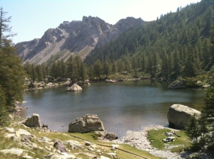 One of the lakes near Fontanable at 2000m altitude in the  stunning Vallée des Merveilles