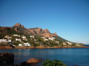 The beautiful Esterel Corniche d'Or to the west of Cannes