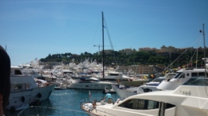 Yachts in the harbour, embodying the glitz and glamour of the Monaco Grand Prix