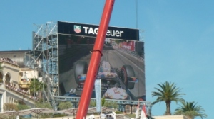 One of the big screens on the GP circuit, essential to follow the action from the grandstands