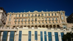 The wonderful Hotel Hermitage, overlooking the circuit on avenue d'Ostende, but sadly hideously expensive for the Grand Prix weekend!