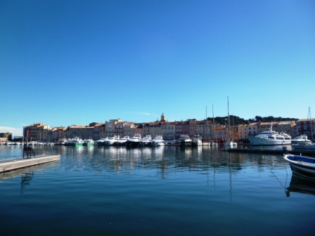 Morning view of the Old Port of Saint Tropez