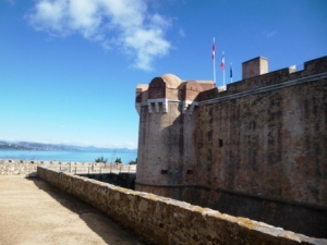 The lovely setting of the Citadel of St Tropez