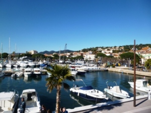 The marina of Sainte Maxime, just about all there is to see there.
