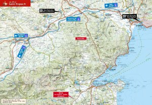 Access map to St Tropez. Credit: www. saint-tropez.fr