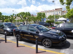 One of the official limousines that drives the stars down the Croisette from their hotels to the Palais des Festivals