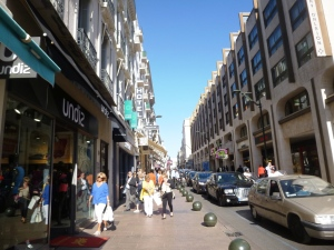 The main shopping street of Cannes, rue d'Antibes