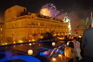 A typical Cannes Festival party, this one at the 3.14 hotel next to the Carlton on the Croisette
