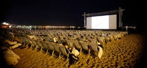 The Cinema de la Plage, located just next to the Majestic Plage