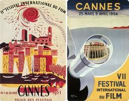 Some posters dating back from the Cannes Film Festivals of the 1950s