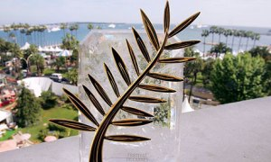 The coveted Palme d'Or, first prize of the Festival (the trophy is made by Chopard, the Swiss jeweller