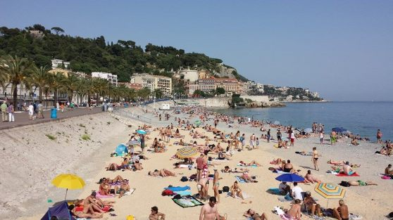 One of the private beaches in Central Nice, le Castal Plage