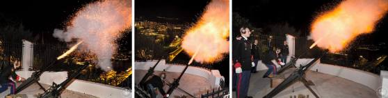 The 42-gun salute organised by the Carabiniers du Prince on the night of 10 December 2014 (C) Palais Princier de Monaco