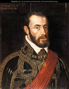 One of Monaco's protectors, the formidable Holy Roman Emperor Charles V