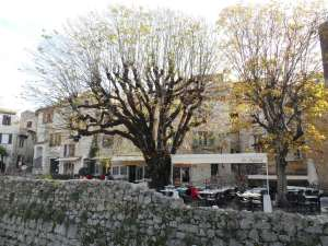 One of the squares with pleasant places to eat, place des Tilleuls (lime trees)