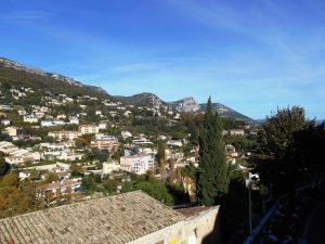 Panorama from Vence's esplanade over the Baou de Saint Jeannet