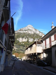 The village of Saint Jeannet dominated by its Baou