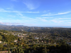 The panorama over Nice, the Var valley and the Baie des Anges from Saint Jeannet village