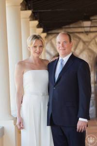 The royal couple of Monaco, HSH Prince Albert II and HSH Princess Charlene (C) Palais Princier de Monaco
