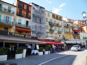 The brightly-coloured Villefranche waterfront