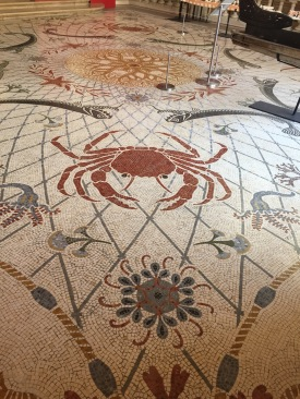 Floor mosaic on the 1st floor foyer (C) K. Hin